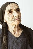 Elderly woman sideview Royalty Free Stock Image