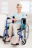 Elderly woman sitting wheelchair Royalty Free Stock Photo