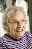 Elderly Woman Smiling royalty free stock photography