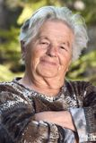 Elderly woman smiling Stock Image