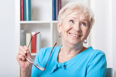 Elderly woman smiling Royalty Free Stock Images
