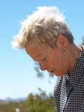 Elderly Woman in the Sunshine Stock Image