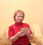 Elderly woman with tablets Stock Photos