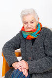 Elderly woman on therapy Stock Images