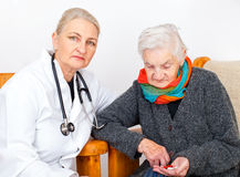Elderly woman on therapy Stock Photos