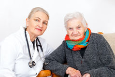 Elderly woman on therapy Royalty Free Stock Image