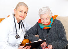Elderly woman on therapy Stock Photography