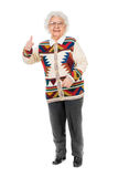 Elderly woman with thumbs up Stock Image