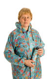 Elderly woman with umbrella Royalty Free Stock Image