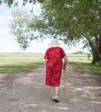 Elderly woman walking Royalty Free Stock Photo