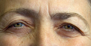 Elderly womans eyes Stock Photo