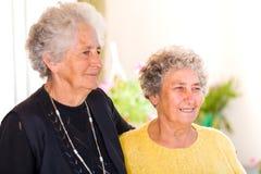 Elderly women royalty free stock images