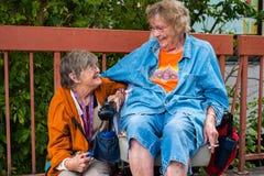 Elderly women Stock Photo