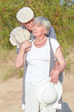Elders couple   at vacation Stock Photos
