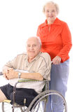 Eldery couple. Isolated on a white background Stock Image