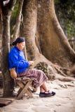 Eldery etnische vrouw Royalty-vrije Stock Afbeeldingen