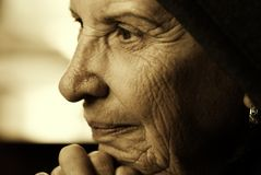 Eldery Frau Lizenzfreies Stockfoto