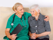 Eldery home care Royalty Free Stock Image