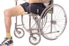 Eldery man in wheelchair Stock Photos
