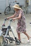 Eldery woman stock photos