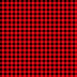 Eldfast tegelginghammodell texturerad röd och svart plädbakgrund för kontrollflanell för ljusröd och svart buffel sömlös pläd vektor illustrationer