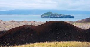 Eldfell volcano at Westman Islands, Iceland Stock Image