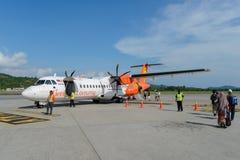 Eldfluga ATR-72 Fotografering för Bildbyråer