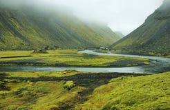 Eldgja kanjon, Island Arkivfoto