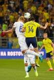 Eldor Shomurodov of FC Rostov vies for the ball
