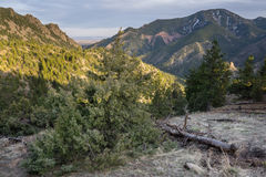 Eldorado Canyon State Park. Looking out the canyon at Denver, from along the Eldorado Canyon Trail stock image