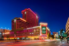 Free Eldorado Hotel And Casino In Reno Nevada At Dusk Stock Image - 168045161