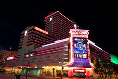 Eldorado hotel and casino at night in Reno, Nevada Royalty Free Stock Photo