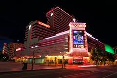 Eldorado hotel and casino at night in Reno, Nevada Stock Images