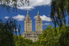 The Eldorado luxury apartment building seen from Central Park in NYC Royalty Free Stock Images