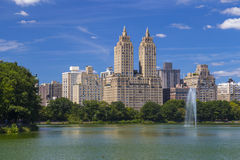 The Eldorado luxury apartment building seen from Central Park in NYC Stock Image