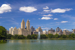 The Eldorado luxury apartment building seen from Central Park in NYC Royalty Free Stock Photography