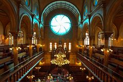 Eldridge Street Jewish Museum en Synagoge, New York Stock Foto
