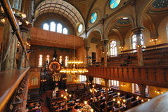 Eldridge Street Synagogue Interior Stock Photo