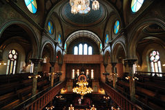eldridge synagoga wewnętrzna uliczna fotografia stock