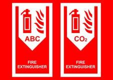 eldsläckarebrandtecken royaltyfri illustrationer