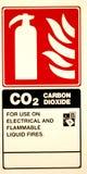 eldsläckarebrandtecken fotografering för bildbyråer