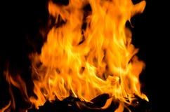 Eldsvådabrand från flamman Royaltyfria Foton