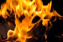 Eldsvådabrand från flamman Arkivfoto