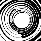 Ele скачками/несимметричный излучать круговое абстрактное геометрическое Стоковое Фото