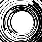Ele скачками/несимметричный излучать круговое абстрактное геометрическое Стоковое Изображение