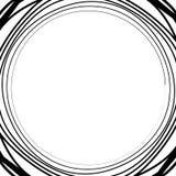 Ele скачками/несимметричный излучать круговое абстрактное геометрическое Стоковое Изображение RF