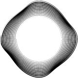 Ele скачками/несимметричный излучать круговое абстрактное геометрическое Стоковые Фото