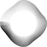 Ele скачками/несимметричный излучать круговое абстрактное геометрическое Стоковые Изображения
