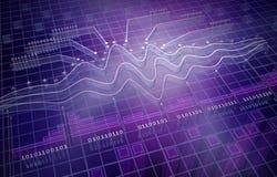 ELE analytics, fundo 3D ilustração stock