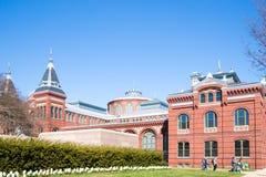 Ele construção de Smithsonian Institution em Washington foto de stock